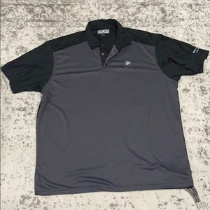 BMW stitched logo polo shirt size XL black / Grey